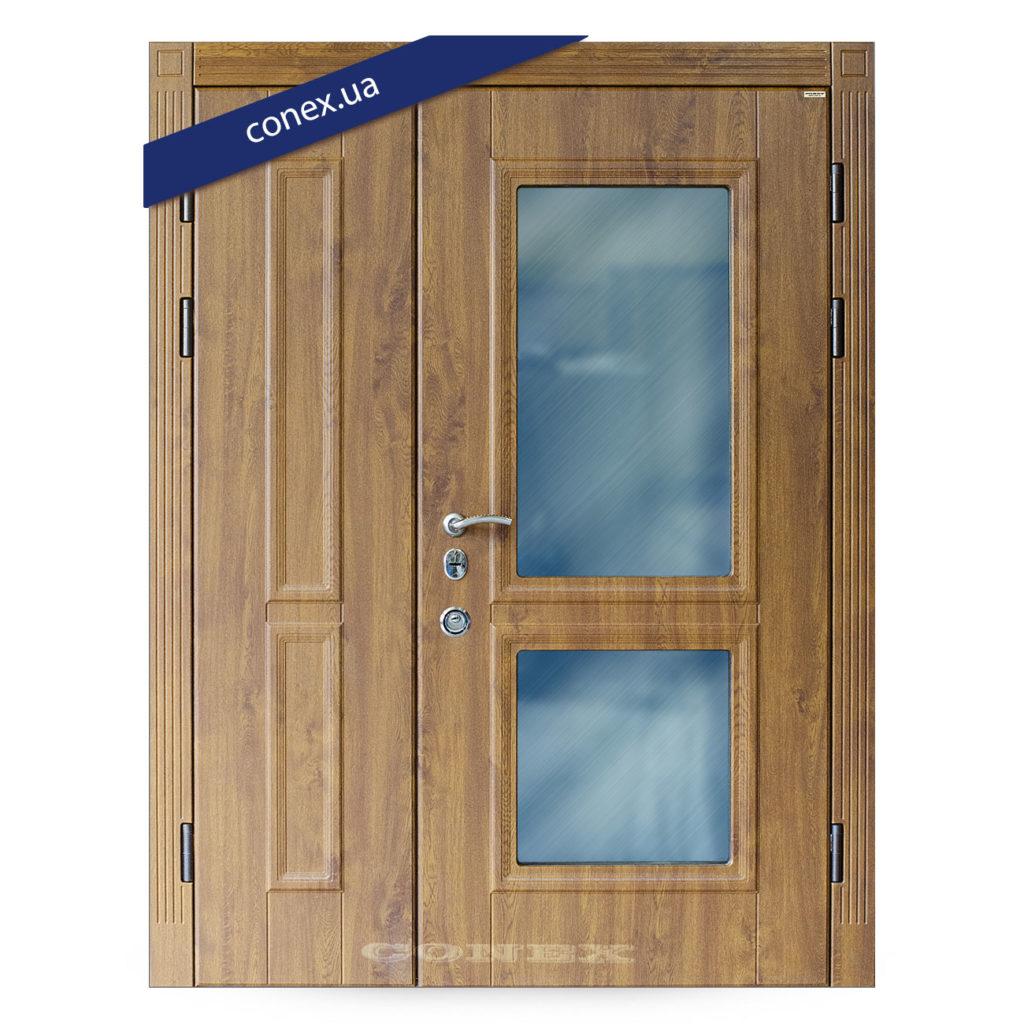 двустворчатая стальная дверь